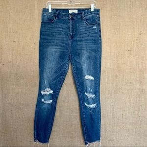 PAC SUN Womens Jeans Stretch Skinny Fit Distressed